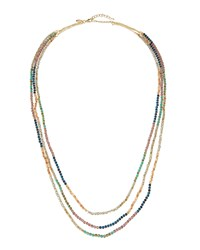Emily And Ashley Greenbeads By Emily And Ashley Long Triple Strand Crystal Beaded Necklace Multi