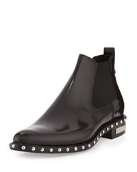 Studded Leather Chelsea Boot Black Givenchy