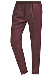 Joseph Tommy Trousers Beetroot Dark Red