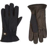Barneys New York Fleece Lined Gloves Black