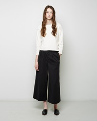 Apiece Apart Taiyana Wide Leg Trouser Black