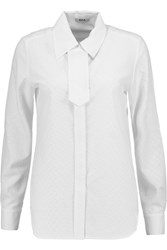 Issa Phillipa Matelasse Crepe Shirt White