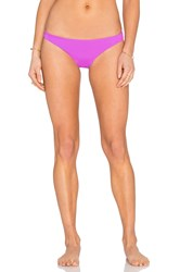 Mara Hoffman Ruched Brazilian Bikini Bottom Purple