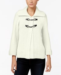 Jm Collection Toggle Cardigan Only At Macy's Eggshell