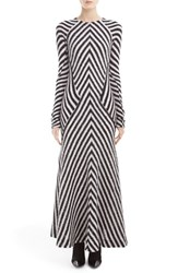 Haider Ackermann Women's Chevron Knit Dress White Black