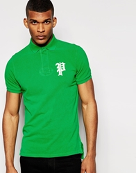 Polo Ralph Lauren Polo Shirt With Gothic P Regular Fit Green