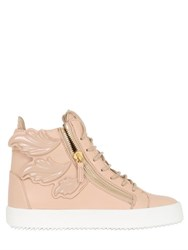 Giuseppe Zanotti 20Mm Embossed Leafs Leather Sneakers