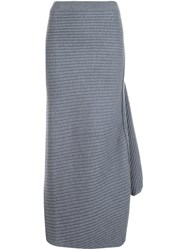 J.W.Anderson Ribbed Knit Skirt Grey