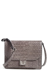 Ivanka Trump 'Hopewell' Leather Shoulder Bag Grey Croc