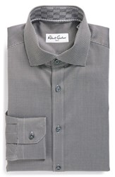 Robert Graham Men's Big And Tall 'Joy' Regular Fit Dobby Dress Shirt Grey