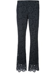 Twin Set Floral Lace Trousers Grey