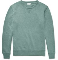 Hartford Loopback Cotton Jersey Sweatshirt Green