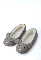 Forever 21 Mouse Slippers Grey