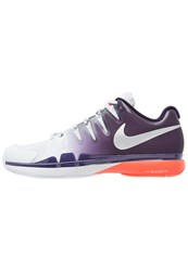 Nike Performance Zoom Vapor 9.5 Tour Outdoor Tennis Shoes Pure Platinum Metallic Silver Purple Dynasty Total Crimson Grey
