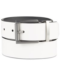 Kenneth Cole Reaction Men's Reversible Cut Edge Belt White Gray