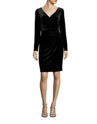 Vince Camuto Solid Ruched Dress Black