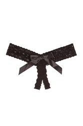 Hanky Panky Open Bow Thong Black