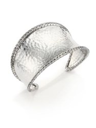 John Hardy Classic Chain Hammered Sterling Silver Cuff Bracelet