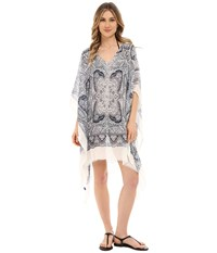 Hat Attack Paisley Poncho Navy Women's Swimwear