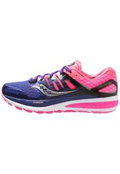 Saucony Iso 2 Cushioned Running Shoes Purple Pink Silver