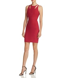 Elizabeth And James Everly Shoulder Cutout Sheath Dress Shiraz