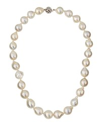 Belpearl 14K Graduated Baroque Freshwater Pearl Necklace Women's