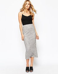 River Island Sequin Maxi Skirt Grey