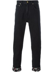 House Of Holland 'Lee Rocket' Cuffed Jeans Blue
