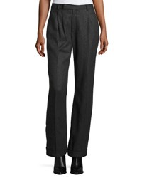 Ralph Lauren Stephanie Merino Wool Pants Charcoal