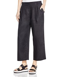 Eileen Fisher Petites Wide Leg Ankle Pants Black