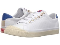 K Swiss Irvine Og 50Th 50Th White Classic Blue Ribbon Red Leather Women's Shoes