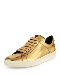 Tom Ford Mirror Leather Tf Low Top Sneaker Gold