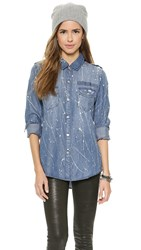 Rails Blair Button Down Denim Splatter