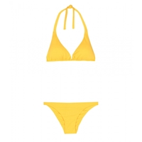 Fisico Triangle Bikini Zafferano