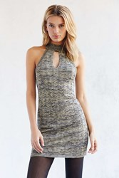 Ecote Multi Yarn Mini Sweater Dress Grey