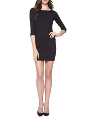 David Lerner Solid Low Back Dress Black