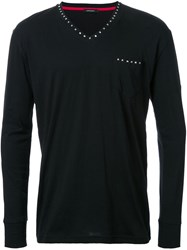 Loveless Embellished Detailing T Shirt Black