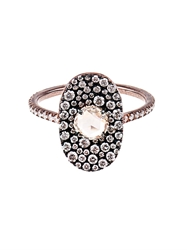 Susan Foster Diamond And Rose Gold Bubbly Ring