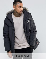 Majestic Raiders Parka Exclusive To Asos Black