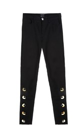 Anthony Vaccarello Buttoned Trousers Black