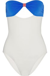 Solid And Striped Poppy Delevingne Cutout Swimsuit White