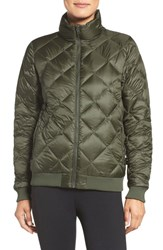 Patagonia Women's Prow Down Bomber Jacket Industrial Green