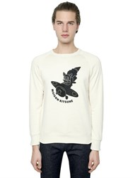 Maison Kitsune Flocked Airman Cotton Sweatshirt