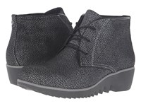 Wolky Dusky Winter Black Malibu Suede Women's Lace Up Boots