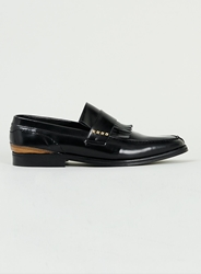 Topman Noose And Monkey Black Leather Stud Loafer