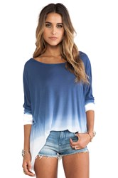 Saint Grace Omega Oversized Top Blue