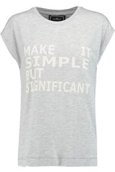 By Malene Birger Umtra Printed Cotton Blend Jersey T Shirt Gray