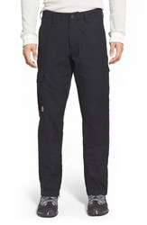 Fjall Raven Men's Big And Tall Fj Llr Ven ' Vik' Cargo Pants Black