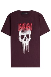 The Kooples Printed Cotton T Shirt Red