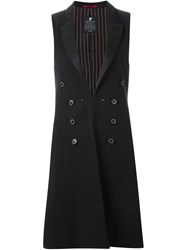 Loveless Long Tailored Waistcoat Black